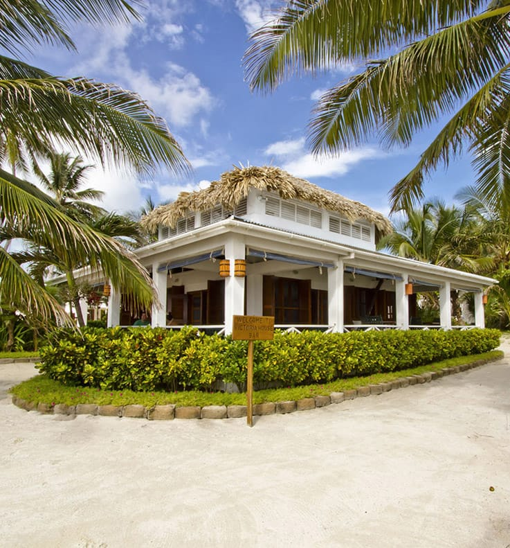 Exterior of Admiral Nelson's Bar at Victoria House Resort and Spa, Belize