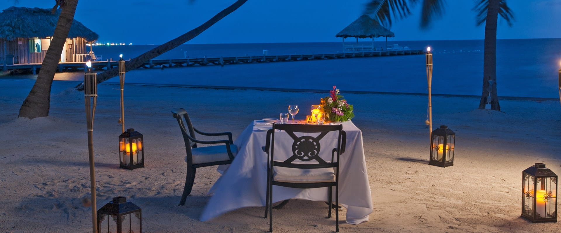 Private dinner on the beach at Victoria House Resort and Spa