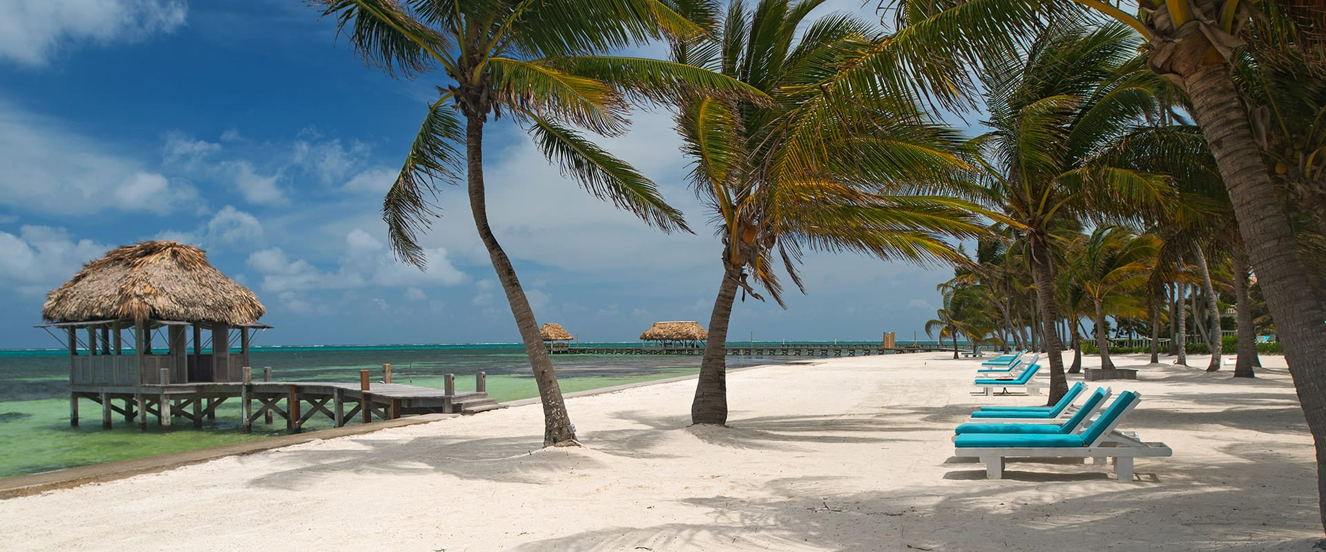 White sand beach at Victoria House Resort and Spa, Belize