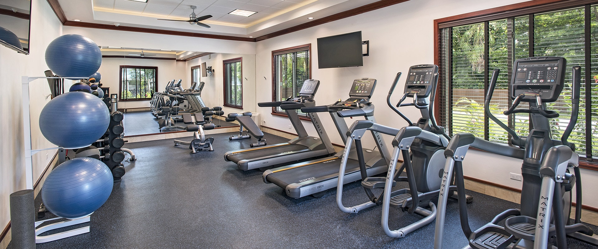 Fitness centre at Victoria House Resort and Spa, Belize