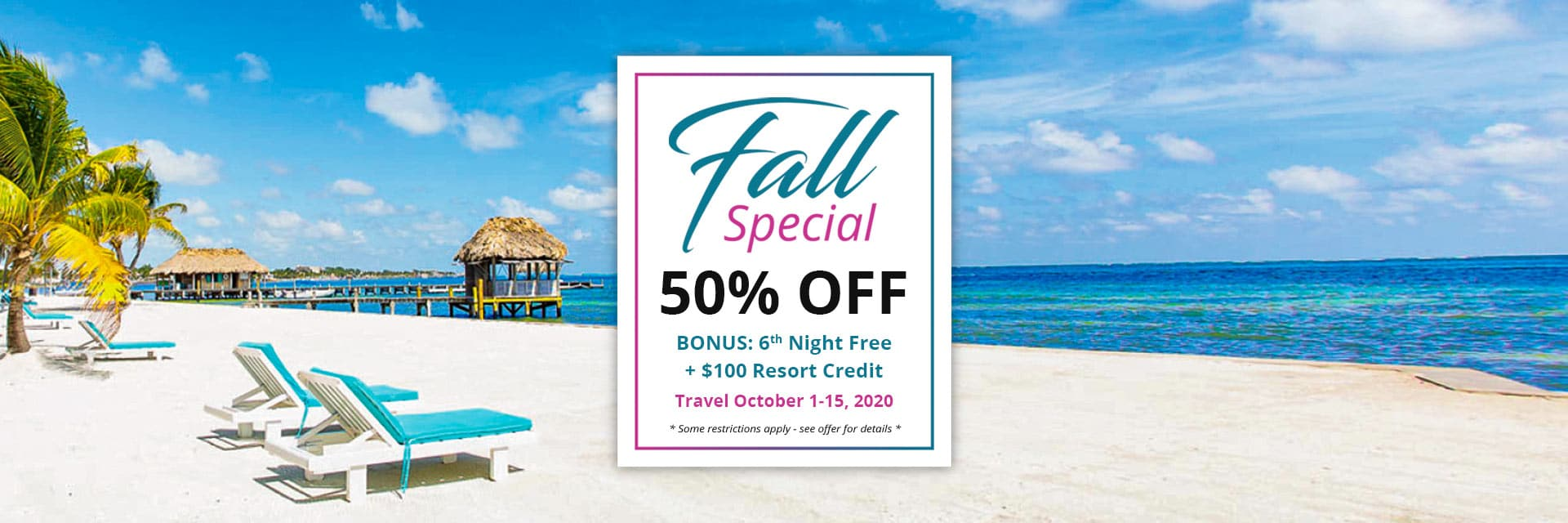 Victoria House Resort & Spa Fall Special